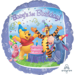 "Standard HX ""Pooh and Friends 1st Birthday"" Foil Balloon, S60, packaged, 45 cm"