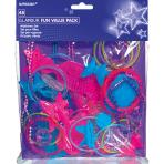 Favour Set Glamour Plastic 48 Pieces