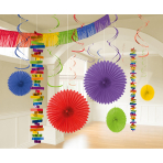 Decoration Kit Rainbow Paper / Foil 18 Parts 274 cm / 213 cm / 20.3 - 55.8 cm