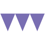 Pennant Banner New Purple Paper 457 x 17.7 cm