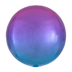 Ombré Orbz Red & Blue Foil Balloon G20 bulk