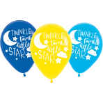 6 Latex Balloon Twinkle Little Star 27.5cm / 11""