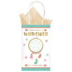 8 Paper Bags Boho Birthday Girl 21.2 x 13.1 x 8.2 cm