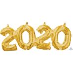 Phrase Block 2-0-2-0 Gold Foil Balloon G40 53cm x 22cm