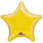 "Standard ""Metallic Yellow"" Foil Balloon Star, S15, bulk, 45 cm"