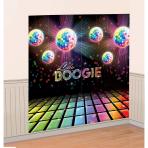 2 Scene Setter Add-Ons Disco Fever 70's Plastic 165 x 82.5 c