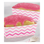 24 Snack Trays Paper Minis pink 11,4 x 6,6 x 4,1cm