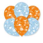 "6 Latexballoons Ocean Buddies All Over Print 27,5 cm/11"""