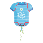 SuperShape Shower With Love Boy Foil Balloon P35 Packaged 55x 60 cm
