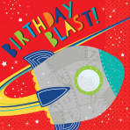 16 Napkins Blast Off Birthday 33 x 33 cm