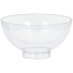10 Small Bowls Plastic Clear 59 ml