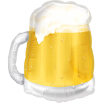 SuperShape Beer Mug Foil Balloon P35 Bulk