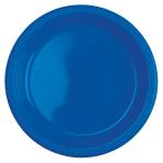 20 Plates Plastic Bright Blue Blue 22.8cm