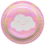 8 Plates Rainbow & Cloud 18cm