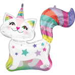 Supershape Caticorn Foil Balloon P35 packaged