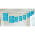 Lantern Garland Carribean Blue Paper 365 cm