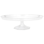 Dessert Stand Plastic Clear Round Small 24.7 cm