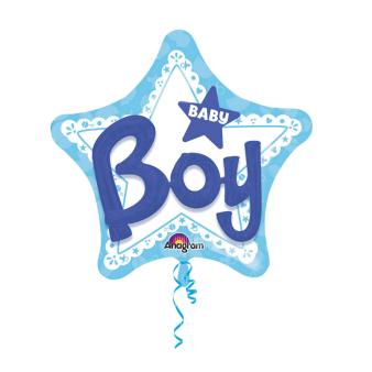 Multi Balloon Baby Boy Foil Balloon P75 Packaged 81 x 81 cm
