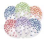"6 Balloons latex ""Confetti - Fashion assorted"" 27,5 cm/11"""