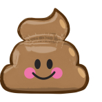 """SuperShape """"Emoticon Poop"""" Foil Balloon, P30, packed, 63 x 60cm"""