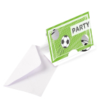 8 Invitation Cards & Envelopes Kicker Party Paper 14.4 x 9.6 cm