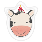 8 Plates Cow Shaped Barnyard Birthday Paper 17.7 x 22.22 cm