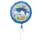 Standard Ocean Buddies Happy Birthda Foil Balloon, round, S40, packed, 43 cm