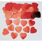Confetti Jumbo Hearts Red Metallic Foil 14 g