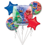 "Bouquet ""PJ Masks"" 5 Foil Balloons, P75, packed"