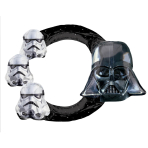 Selfie Frame Star Wars Foil Balloon S70 Packaged