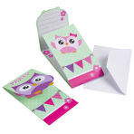 8 Invitations & Envelopes Happy Owl