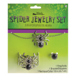 Costume Accessory Jewellery Set Spider Witch 3 Pieces One Size