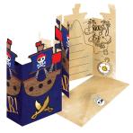 8 Invitations & Envelopes Pirates Map