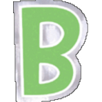 48 Stickers Letter B