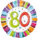 Standard Radiant Birthday 80 Foil Balloon S55 Packaged