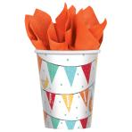 8 Cups Barnyard Birthday Paper 266 ml