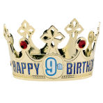 Crown Happy Birthday Personalizable Plastic 13.9 x 9.5 cm