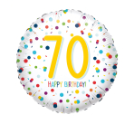 Standard EU Confetti Bday 70 Foil Balloon S40 packaged