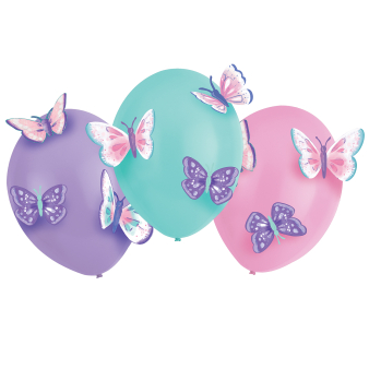 3 Latex Balloons Flutter with Paper Additions