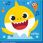 16 Lunch Napkins Baby Shark 33 x 33 cm