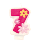 Numeral Candle 7 Girls