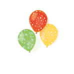 6 Latex Balloons Stars assorted 25.4 cm / 10""