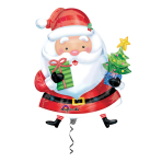 SuperShape Santa with Tree Foil Balloon P35 Packaged
