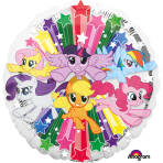 "Standard ""My Little Pony Gang"" Foil Balloon Round, S60, packed, 43cm"