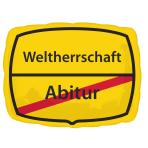 """Junior Shape """"Abitur - Weltherrschaft"""" Foil Balloon, S50, packed, 43 x 30 cm"""