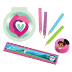 Stationery Set Nella The Princess Knight Plastic / Paper / Pencils 16 Pieces