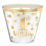 30 Cups 1st Birthday Plastic 266 ml