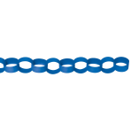 Chain Link Garland Bright Royal Blue 390 cm