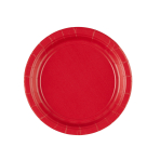 8 Plates Apple Red Paper Round 17.7 cm