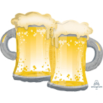 "SuperShape ""Beer Mugs"" Foil Balloon, P35, packed, 81 x 63cm"